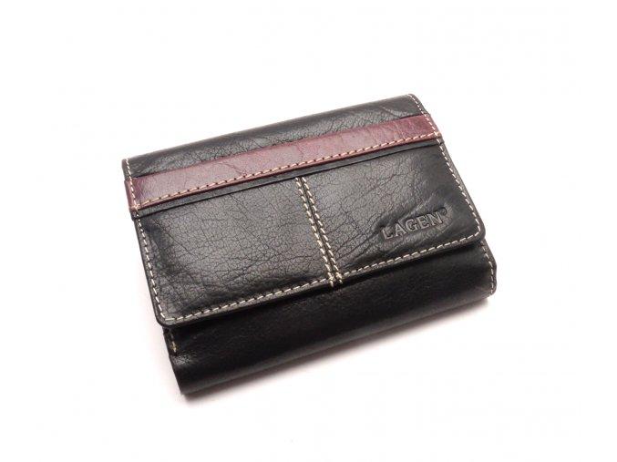 Dámská kožená peněženka 1056 BLACK/RED