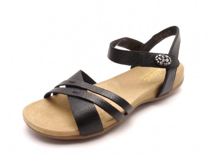 Dámské černé sandály 60553-00