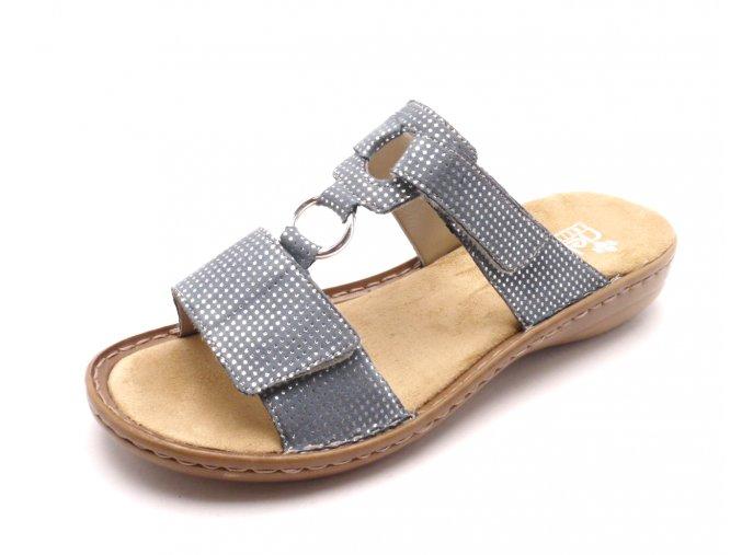 Dámské modré pantofle 608P9-12