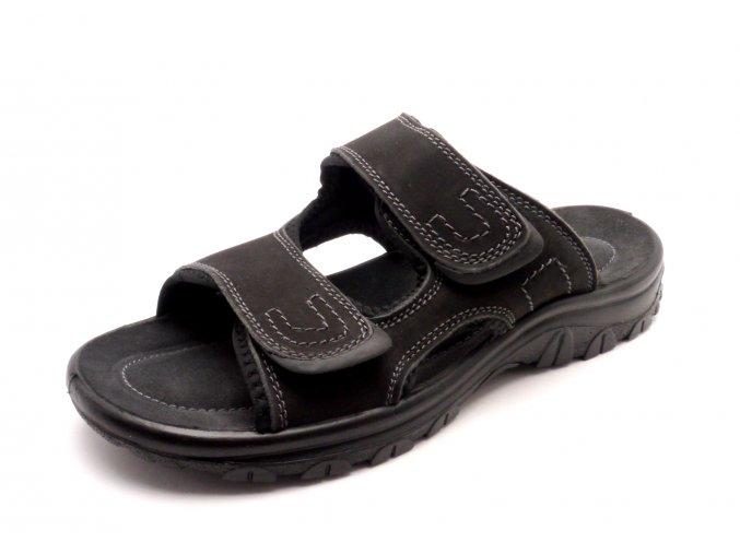 Pánské černé pantofle 2-17400-001