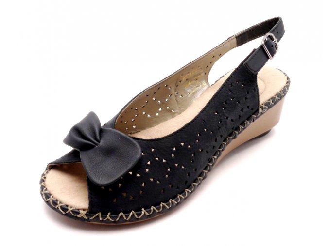 Dámské elegantní sandály na klínku 66178-14