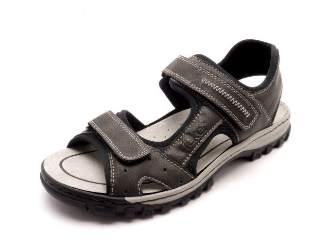 Pánské pohodlné sandály na suchý zip 25084-45