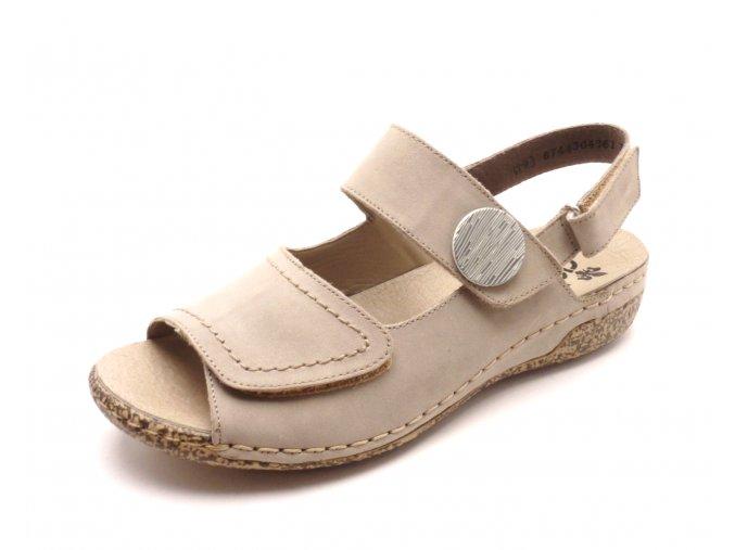 Dámské béžové sandále V7272-42