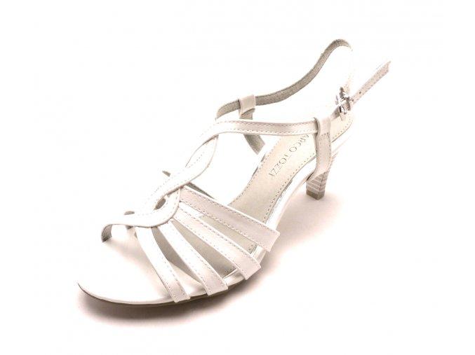 Dámská bílá obuv na podpatku 2-28321-123