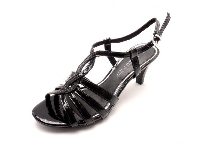 Dámská černá obuv na podpatku 2-28321-018