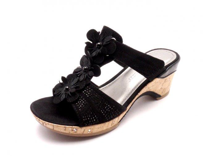 Dámské pantofle 2-27213-001 BLACK