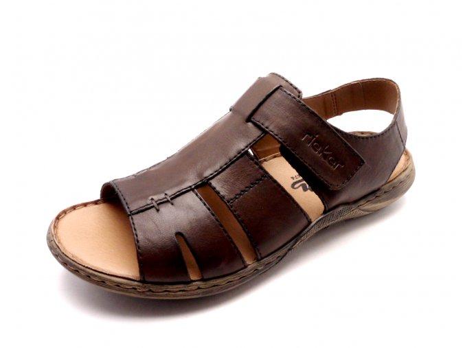 Pánské hnědé sandály 22073-25