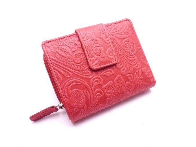 Dámská peněženka s ornamenty D43-37 LIGHT RED