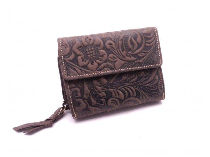 Dámská peněženka s ornamenty W1093-33 BROWN