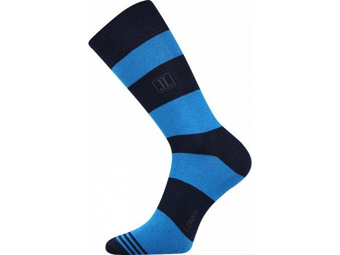 ponozky pruhy modra