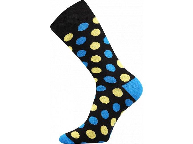 ponozky puntiky cerne
