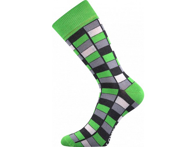 ponozky mozaika zelena