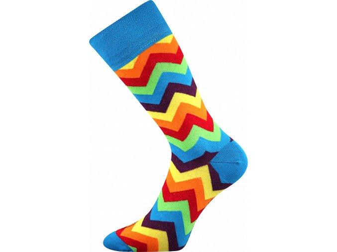ponozky klikatice barevne