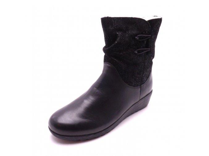 Dámská kotníková obuv na klínku X2474-00