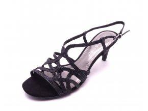 Dámská černá obuv na podpatku 2-28328-22-033
