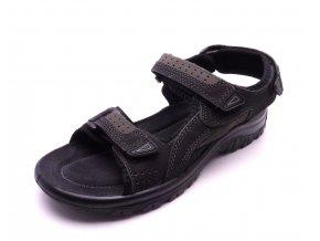 Pánské černé sandály 2-18400-098