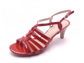 Dámská červená obuv na podpatku 2-28321-524