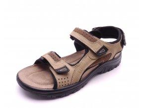 Pánské béžové sandály 2-18400313
