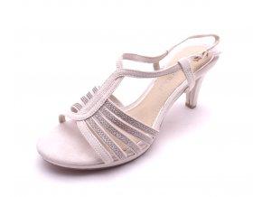 Dámské béžové sandály na podpatku 2-28303-435