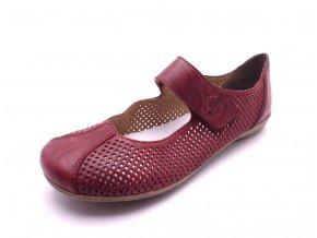 Dámské červené baleríny 53977-35