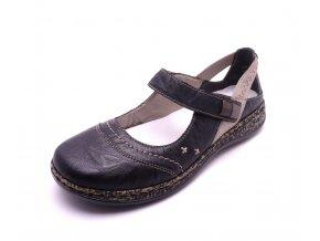 Dámské černé sandály 46378-00