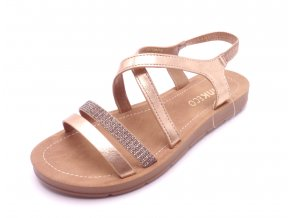 Dámské ROSE GOLD sandály SQ91597-3
