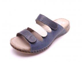 Dámské kožené pantofle 61157-12