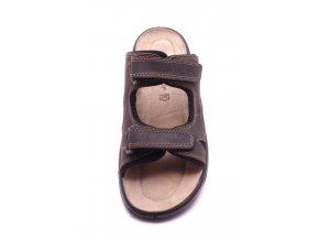 Pánské hnědé pantofle 2-17400-303