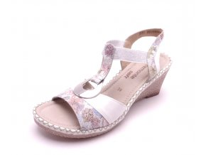 8a0b4243cf Dámské sandály na klínku D6762-91