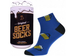 Ponožky - Pivo 11 v dárkové pivní plechovce