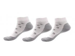 3x ponožky s motivem tlapky - šedé