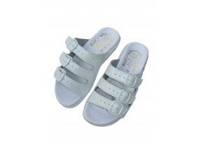 Dámské pantofle v bílé barvě