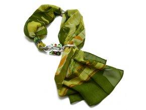 Šátek s ozdobou - velký - varianta 1