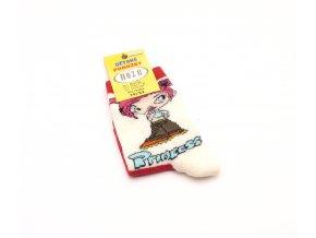 Ponožky H1804 - červená