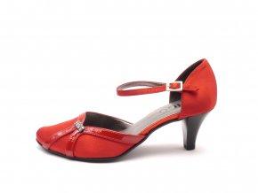 Dámská elegantní plesová obuv 145-sl - červená