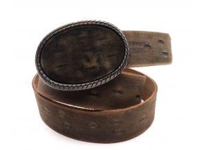 Kožený pásek s velice pěknou sponou TAB-113
