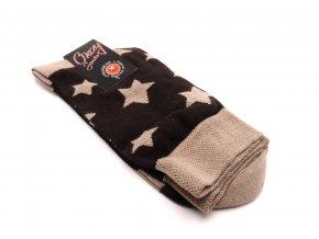 Ponožky hvězdy béžový