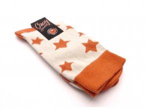 Ponožky hvězdy oranžový