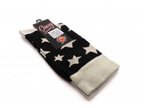 Ponožky hvězdy šedé