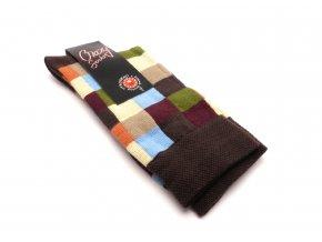 Ponožky čtverečky barevné