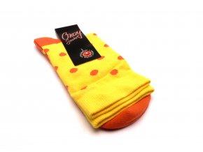 Ponožky kolečka oranžová