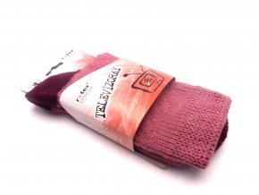 Ponožky Televizorky tmavě růžové