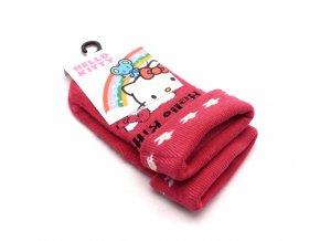 Ponožky Hello Kitty - tmavě růžová