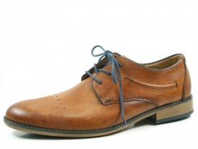 Elegantní pánská kožená obuv Rieker 11829-24
