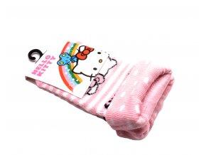 Ponožky Hello Kitty - světle růžová