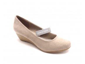 Dámská obuv na klínku 2-22302-28 béžová