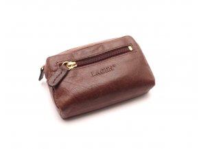 Malá peněženka s klíčenkou K-2011 BROWN
