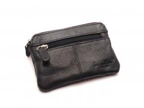 Malá peněženka s klíčenkou M-7 BLACK