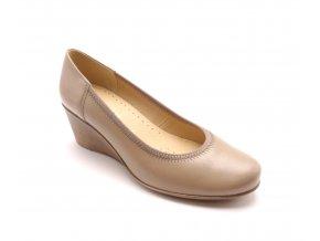 Pohodlná obuv na klínku 727-245/585