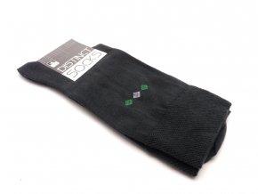 Ponožky distinct šedá kosočtverec zelený